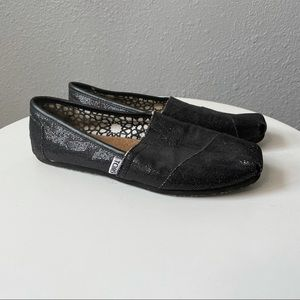 Toms Black Sequence Shoes size 7.5